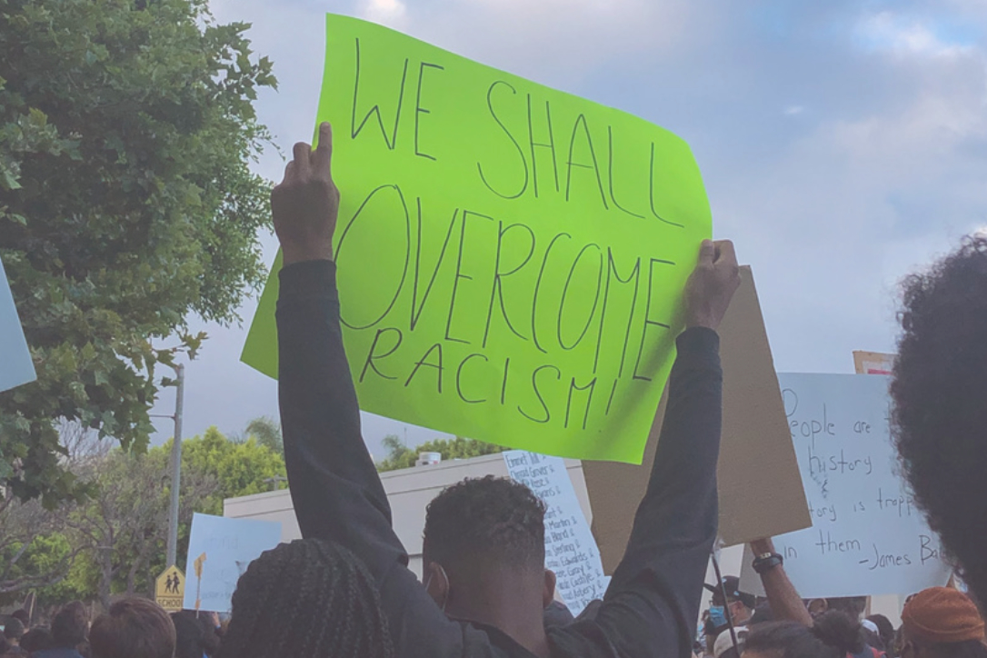 Black Lives Matter protest sign in Long Beach, California. June 2020.