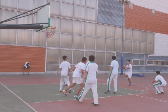 Basketball courts in Beijing