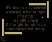 Self deception