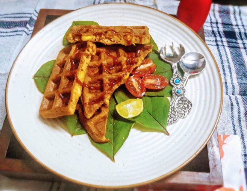 Savoury Corn Waffles
