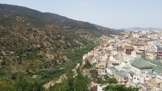 Moulay Idriss, a city near the ruins of Volubilis.
