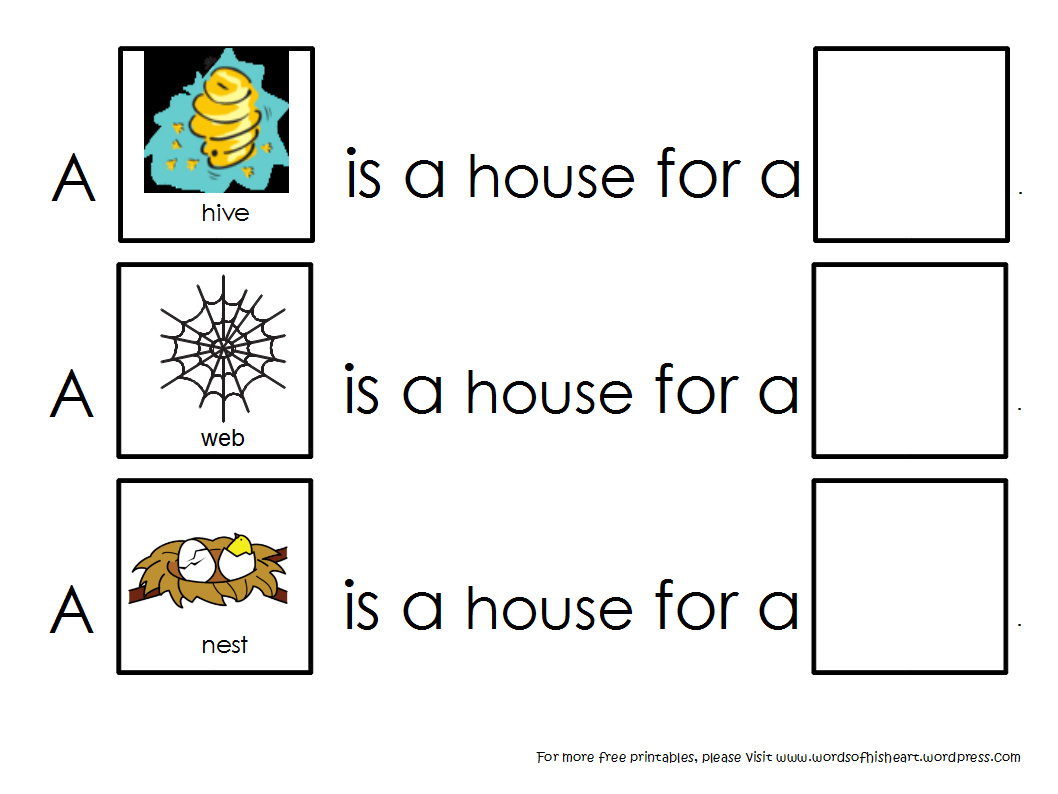 Free Printable Activities For Animal Habitats