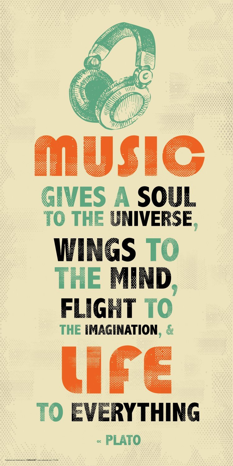 Music gives a soul to the universe, wings to the mind, flight to the imagination, & life to everything. - Plato