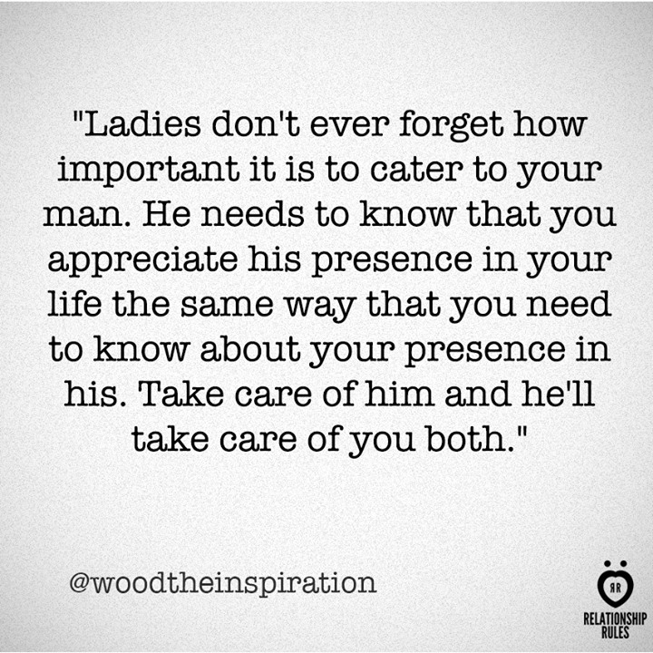 How To Take Care Of Your Man In A Relationship