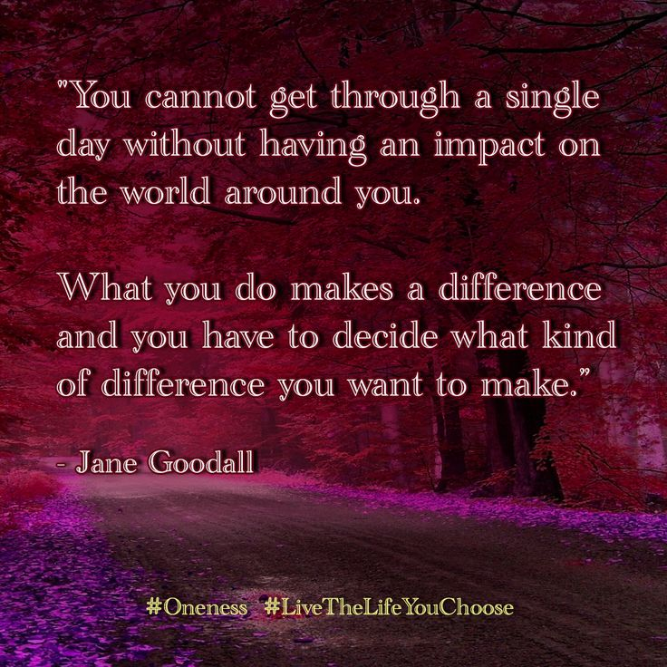 You cannot get through a single day without having an impact on the world around you. What you do makes a difference and you have to decide what kind of difference you want to make. - Jane Goodall
