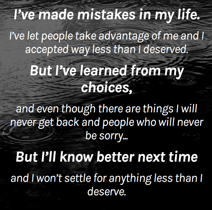 Mistakes In My Life - Word Porn Quotes, Love Quotes, Life