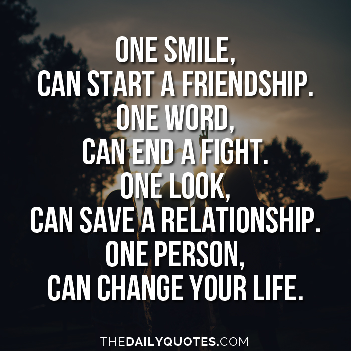 End Of Life Quotes Inspirational Best One Smile Can Change Your Life  Word Quotes Love Quotes