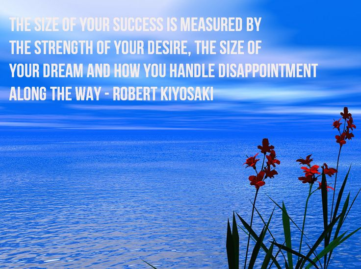 The size of your success is measured by the strength of your desire, the size of your dream and how you handle disappointment along the way - Robert Kiyosaki