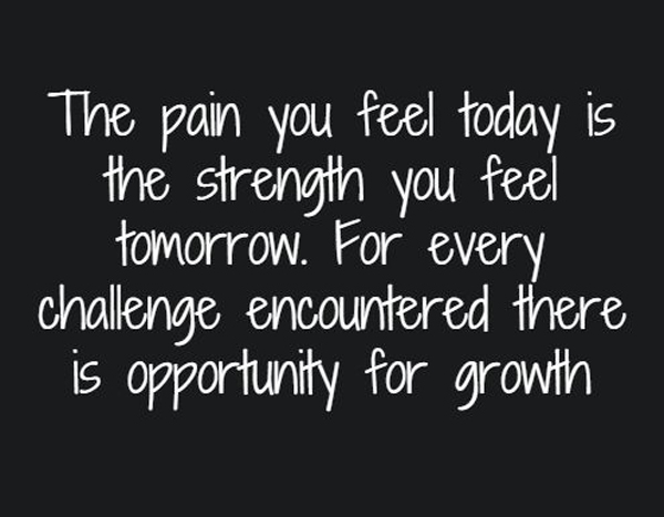 Image of: Inspirational The Pain You Feel Today Is The Strength You Feel Tomorrow For Every Challenge Encountered Word Porn Quotes Love Quotes Life Quotes Inspirational Quotes The Pain You Feel Word Porn Quotes Love Quotes Life Quotes