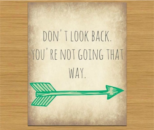 Good Morning Quotes Looking Back