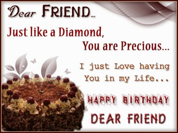 15 Just Like A Diamond You Are Precious I Love Having In My Life Birthday Wishes For Best Friends Daughter