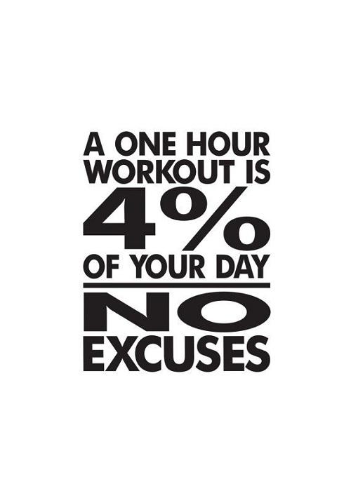 One Hour Workout Gym Quotes