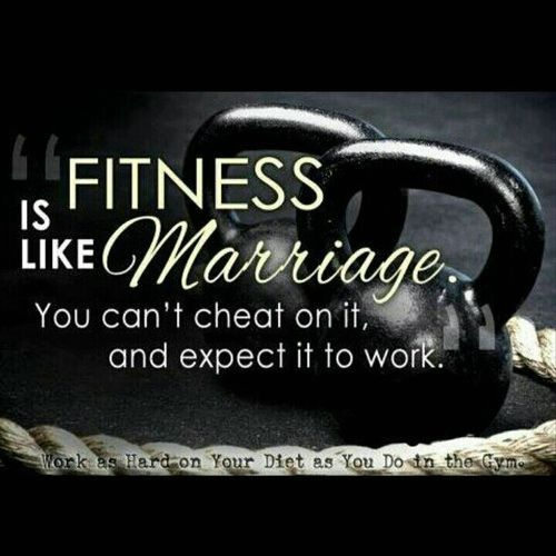 Fitness is Like Marriage Gym Quotes