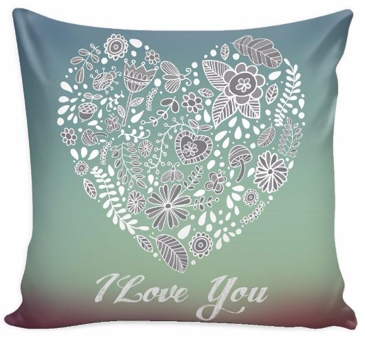 'I Love You' Love Quotes for Him Purple Pillow Cover