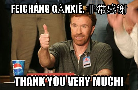 Thank You So Much In Chinese