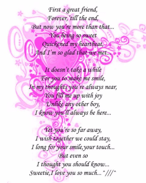 Nice short poems for him