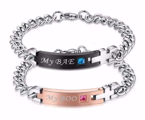 'My Bae' and 'My Boo' Couple Bracelet