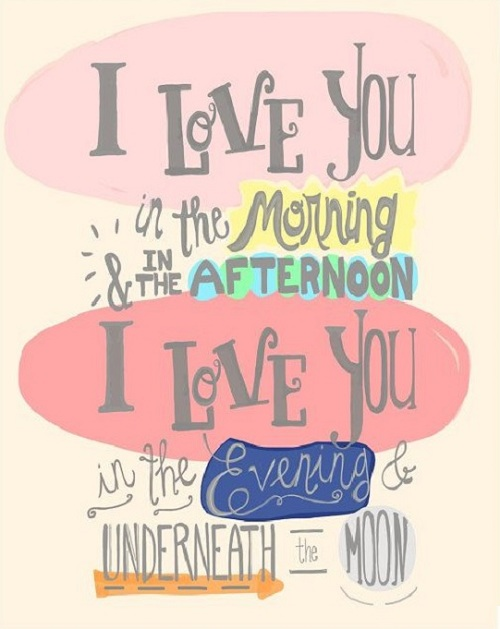 Underneath the Moon Love Quotes for Husband