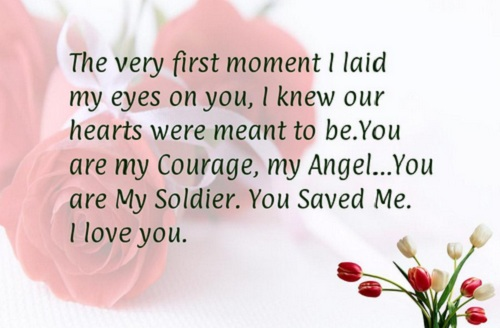 First Moment Love Quotes for Husband
