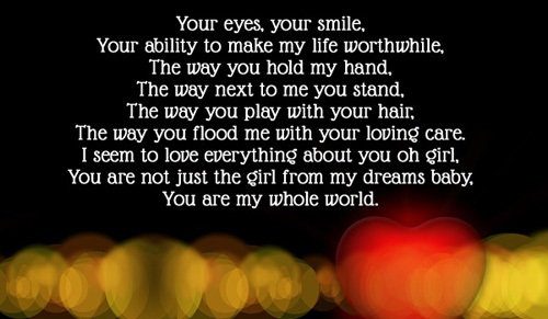 Whole World Love Quotes for Her