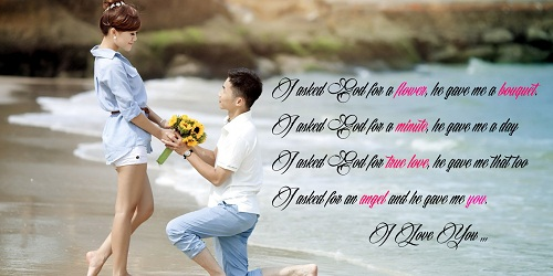 Flower Bouquet Love Quotes for Her