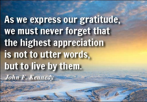 Express Gratitude Lovely Quotes