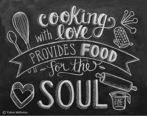 Family quotes about cooking with love.
