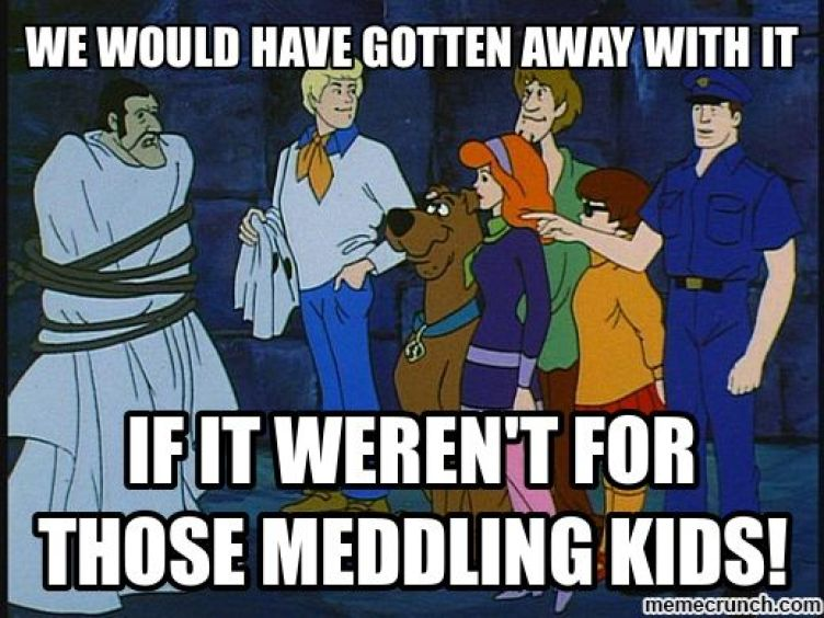 Image result for scooby doo meddling kids meme