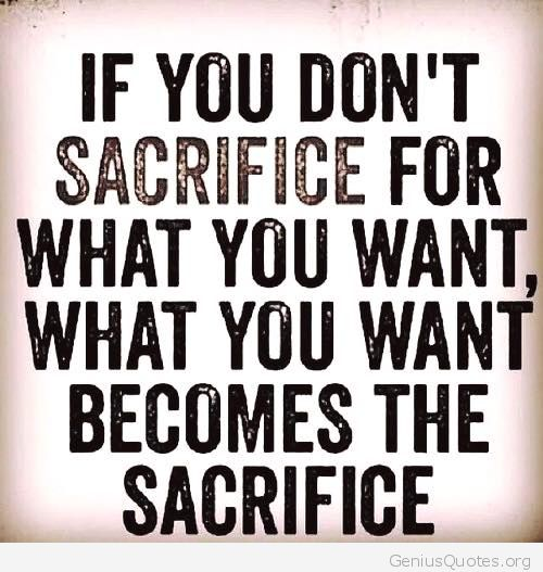 If You Do Not Sacrifice