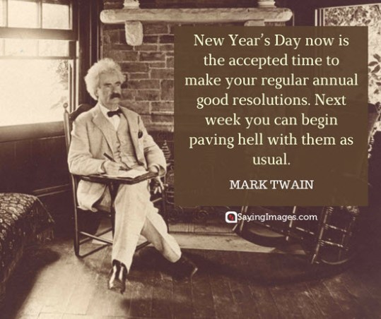 mark twain new year quotes