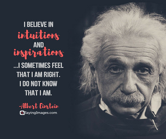 albert einstein intuition quotes