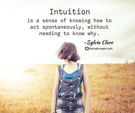 sylvia clare intuition quotes