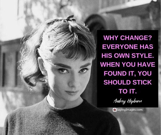 audrey hepburn change quotes