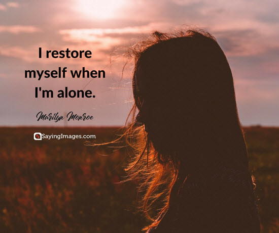 marilyn monroe alone quotes