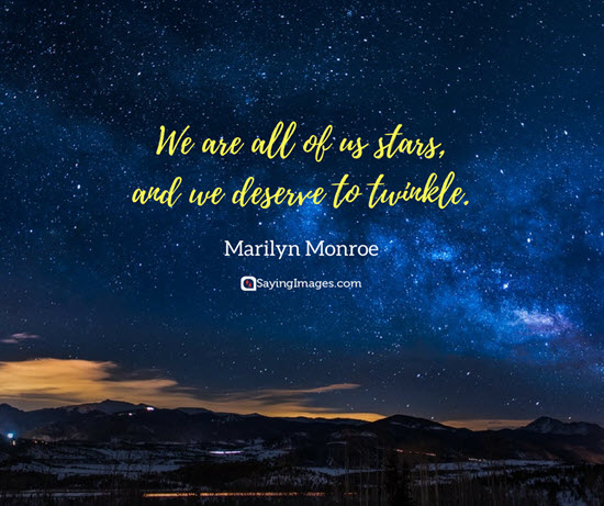marilyn monroe stars quotes