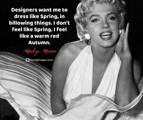 marilyn monroe designers quotes