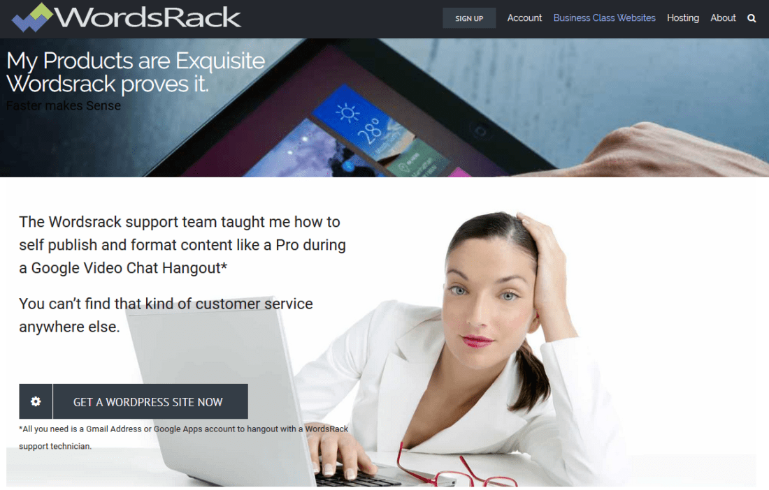 voila your page is perfect using wordpress on wordsrack drag and drop editor
