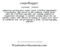 Definition Carpetbagging - Carpet Vidalondon