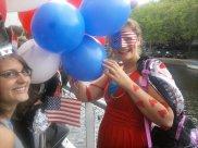 De allereerste Rock & Run. Wij deden mee als Statue of Liberty en I <3 NY (gezien je een reisje naar NY kon winnen)