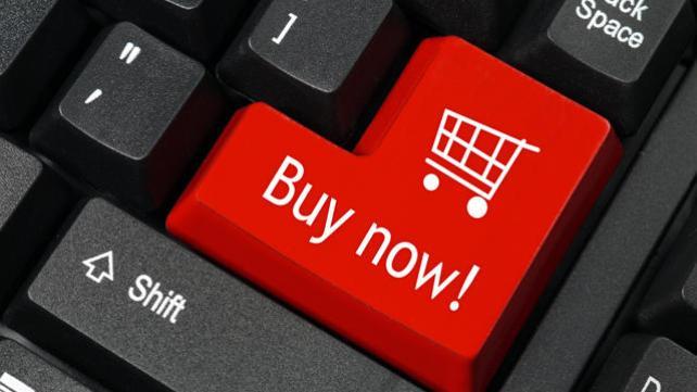 Palavras-chave de intenção comercial Compre agora o botão do teclado