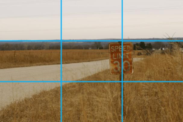 Regra de terços aplicada à paisagem