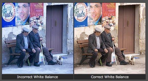 Exemplo de edição de balanço de branco de vídeos de marketing