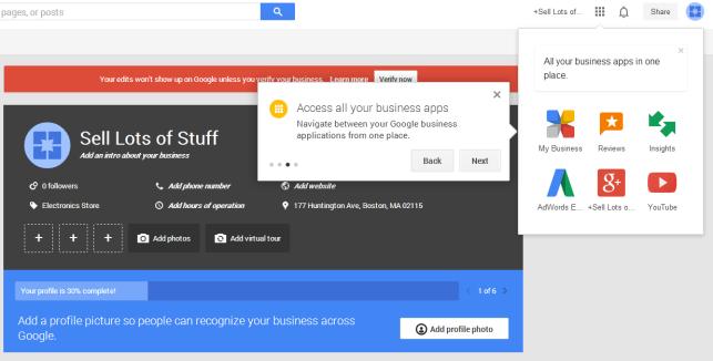 Google meus aplicativos