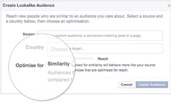 Increase sales online target lookalike audiences in Facebook