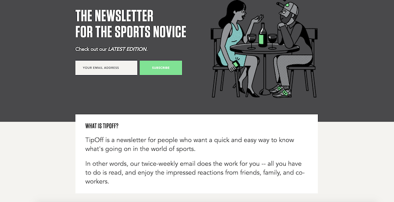 creative newsletter names tipoff
