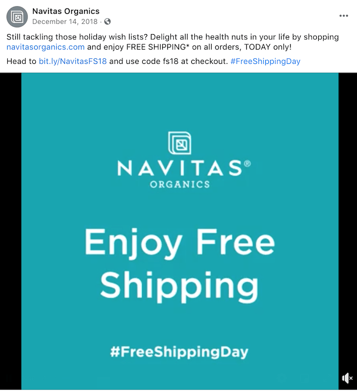 december marketing ideas - free shipping day