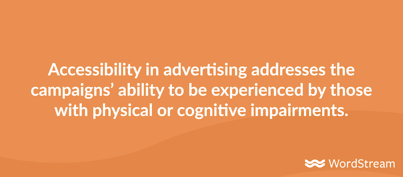 definition of accessibility in advertising