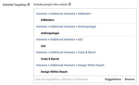 Facebook advertising for small business detailed targeting options