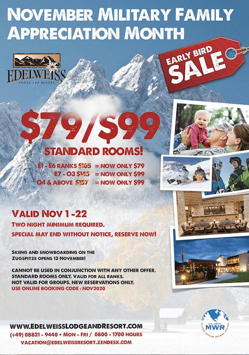 free november marketing ideas miltary family appreciation sale