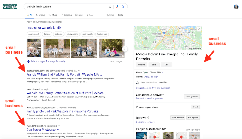 how to get on the first page of google for free